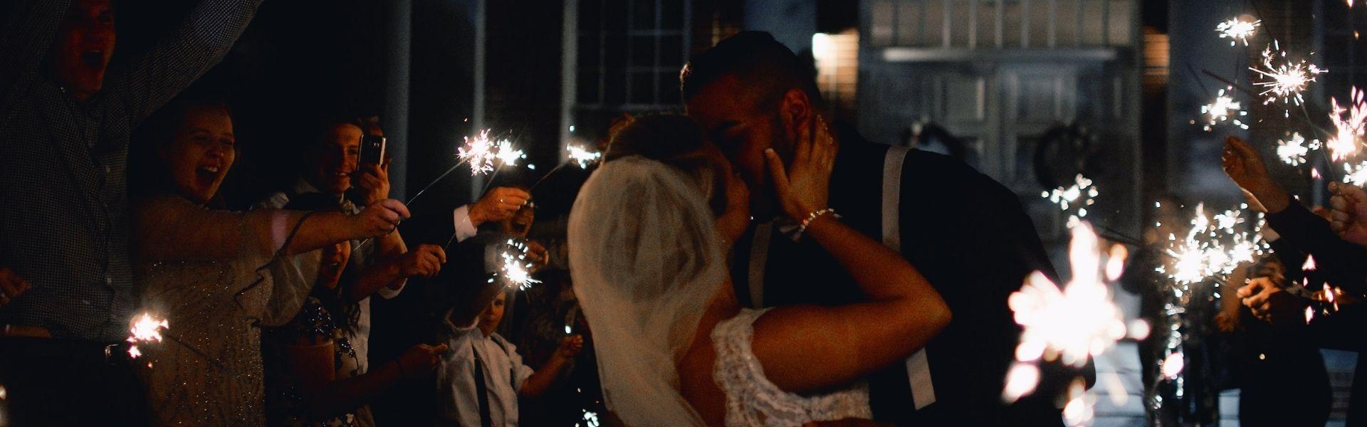 Decoración boda exterior noche